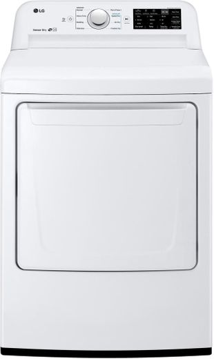 "DLG7101W LG 27"" 7.3 Cu. Ft. Ultra Large Capacity Gas Rear Control Front Load Dryer with Sensor Dry System and SmartDiagnosis - White"