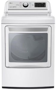 "DLG7301WE LG 27"" 7.3 cu.ft. Smart WiFi Enabled Gas Dryer with Sensor Dry Technology and EasyLoad Door - White"