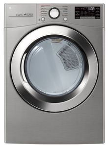 """DLGX3701V LG 27"""" 7.4 Cu. Ft. Ultra Large Capacity Smart WiFi Enabled Gas Steam Dryer with SmartThinQ Technology and SmartDiagnosis - Graphite Steel"""