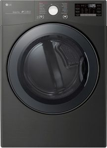 DLGX3901B LG Front Load Gas Dryer with TurboSteam Technology and SmartThinQ Technology - Black Steel