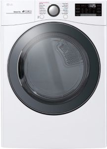 DLGX3901W LG Front Load Gas Dryer with TurboSteam Technology and SmartThinQ Technology - White