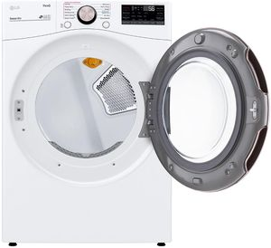 """DLGX4001W LG 27"""" 7.4 cu.ft. Ultra Large Capacity Gas Dryer with SensorDry Truesteam Technology and Wi-Fi Connectivity - White"""