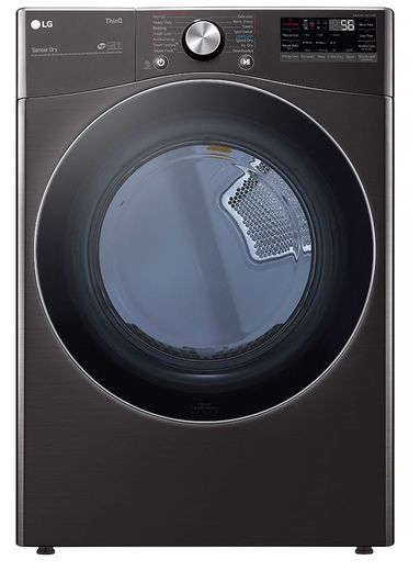 DLGX4201B LG 7.4 cu. ft. Ultra Large Capacity Smart wi-fi Enabled Front Load Gas Dryer with TurboSteam - Black Steel