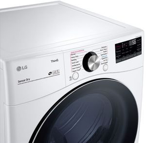 DLGX4201W LG 7.4 cu. ft. Ultra Large Capacity Smart wi-fi Enabled Front Load Gas Dryer with TurboSteam - White