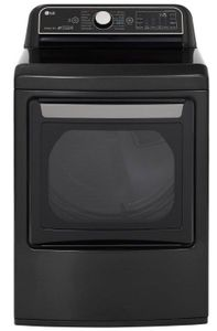 """DLGX7901BE 27"""" LG 7.3 cu. ft. Gas Dryer with TurboSteam Technology and LG SmartThinQ - Black Steel"""
