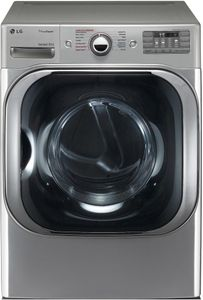 "DLGX8101V LG 29"" 9.0 Cu. Ft. Mega Capacity Gas Steam Dryer with TrueSteam Technology and Sensor Dry - Graphite Steel"