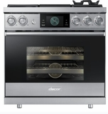 """DOP36M94DPS Dacor 36"""" Contemporary Pro Liquid Propane Dual-Fuel Steam Range with Griddle - Stainless Steel"""