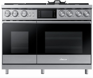 "DOP48M96DPS Dacor 48"" Contemporary Freestanding Dual Fuel Range with Illumina Knobs and Wi-Fi Connection - Liquid Propane - Stainless Steel"