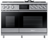 """DOP48M96DPS Dacor 48"""" Contemporary Freestanding Dual Fuel Range with Illumina Knobs and Wi-Fi Connection - Liquid Propane - Stainless Steel"""