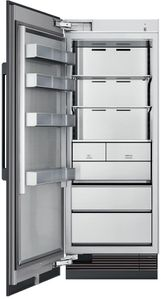 """DRZ30980LAP 30"""" Dacor Contemporary 17.6 cu. ft. Left Hinge Column Freezer with Dual Ice Makers and Power Freeze - Custom Panel"""