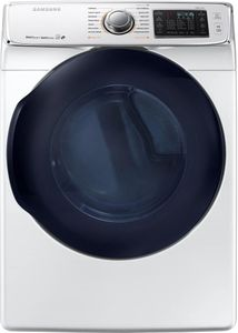 """DV45K6500GW Samsung 27"""" Gas Front-Load Dryer with 7.5 cu. ft. Capacity and 14 Dry Cycles - White"""
