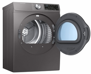 """DVE22N6850X Samsung 24"""" Electric Front-Load Dryer with Smart Care and Sensor Dry - inox Grey"""