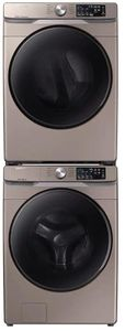 """DVE45R6100C Samsung 27"""" Smart Care Electric Front-Load Dryer with Steam Sanitize+ Cycle and Sensor Dry - Champagne"""