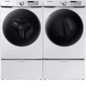 """DVE45R6100W Samsung 27"""" Smart Care Electric Front-Load Dryer with Steam Sanitize+ Cycle and Sensor Dry - White"""