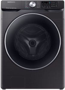 "DVE45R6300V Samsung 27"" Bixby Enabled Electric Front-Load Dryer with Steam Sanitize+ Cycle and Sensor Dry - Fingerprint Resistant Black Stainless Steel"