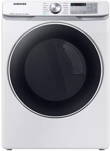 "DVE45R6300W Samsung 27"" Bixby Enabled Electric Front-Load Dryer with Steam Sanitize+ Cycle and Sensor Dry - White"