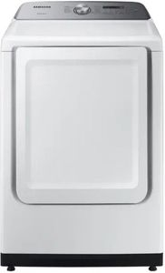 "DVE50R5200W Samsung 27"" Smart Care Electric Front-Load Dryer with Steam 10 Preset Drying Cycles and Sensor Dry - White"