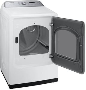 "DVE50R5400W Samsung 27"" Electric Front-Load Dryer with Steam Sanitize+ Cycle and Sensor Dry - White"