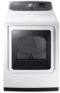 """DVE52M7750W Samsung 27"""" 7.4 cu. ft. Capacity Electric Dryer with Multi-Steam Technology and Wrinkle Prevent Option - White"""