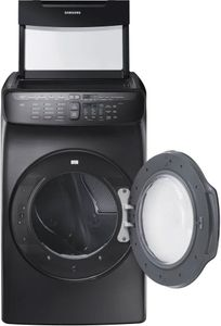 """DVE55M9600V Samsung 27"""" 7.5 cu. ft. Capacity Electric Front Load Dryer With FlexWash and SteamWash - Black Stainless Steel"""