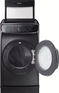 "DVE60M9900V Samsung 27"" 7.5 cu. ft. Capacity Electric Front Load Dryer With FlexDry and Multi-Steam Technology - Black Stainless Steel"