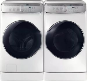 """DVE60M9900W Samsung 27"""" 7.5 cu. ft. Capacity Electric Front Load Dryer With FlexDry and Multi-Steam Technology - White"""
