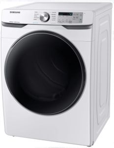 "DVG45R6100W Samsung 27"" Smart Care Gas Front-Load Dryer with Steam Sanitize+ Cycle and Sensor Dry - White"