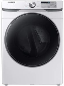 """DVG45R6100W Samsung 27"""" Smart Care Gas Front-Load Dryer with Steam Sanitize+ Cycle and Sensor Dry - White"""