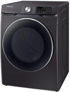 """DVG45R6300V Samsung 27"""" Bixby Enabled Gas Front-Load Dryer with Steam Sanitize+ Cycle and Sensor Dry - Black Stainless Steel"""