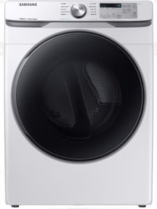 """DVG45R6300W Samsung 27"""" Bixby Enabled Gas Front-Load Dryer with Steam Sanitize+ Cycle and Sensor Dry - White"""
