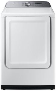 "DVG50R5200W Samsung 27"" Smart Care Gas Front-Load Dryer with Steam 10 Preset Drying Cycles and Sensor Dry - White"