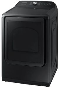 """DVG50R5400V Samsung 27"""" Gas Front-Load Dryer with Steam Sanitize+ Cycle and Sensor Dry - Fingerprint Resistant Black Stainless Steel"""