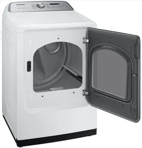 "DVG50R5400W Samsung 27"" Gas Front-Load Dryer with Steam Sanitize+ Cycle and Sensor Dry - White"