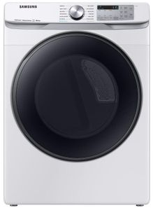 """DVG50R8500W Samsung 27"""" Bixby Enabled Gas Front-Load Dryer with Steam Sanitize and Sensor Dry - White"""