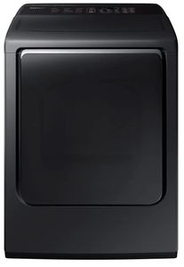 "DVG54M8750V Samsung 27"" 7.4 cu. ft. Gas Dryer with Integrated Touch Controls and Multi-Steam Technology - Black"