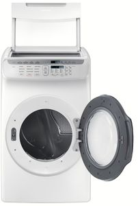 """DVG55M9600W Samsung 27"""" 7.5 cu. ft. Capacity Gas Front Load Dryer With FlexWash and SteamWash - White"""