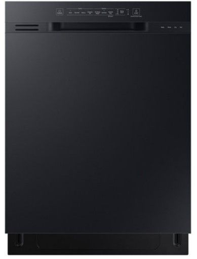 "DW80N3030UB Samsung 24"" Front Control Dishwasher with 4 Wash Cycles and 3rd Rack - Black"
