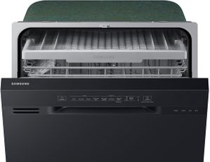 """DW80N3030UB Samsung 24"""" Front Control Dishwasher with 4 Wash Cycles and 3rd Rack - Black"""