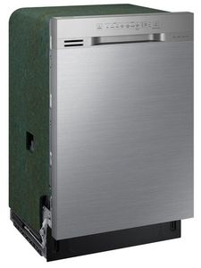 "DW80N3030US Samsung 24"" Front Control Dishwasher with 4 Wash Cycles and 3rd Rack - Stainless Steel"