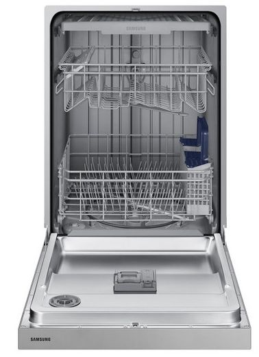 """DW80N3030US Samsung 24"""" Front Control Dishwasher with 4 Wash Cycles and 3rd Rack - Stainless Steel"""