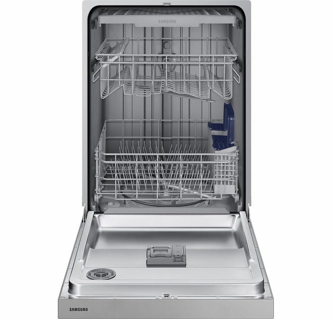 Dw80n3030us Samsung 24 Front Control Dishwasher With 4 Wash Cycles And 3rd Rack Stainless Steel