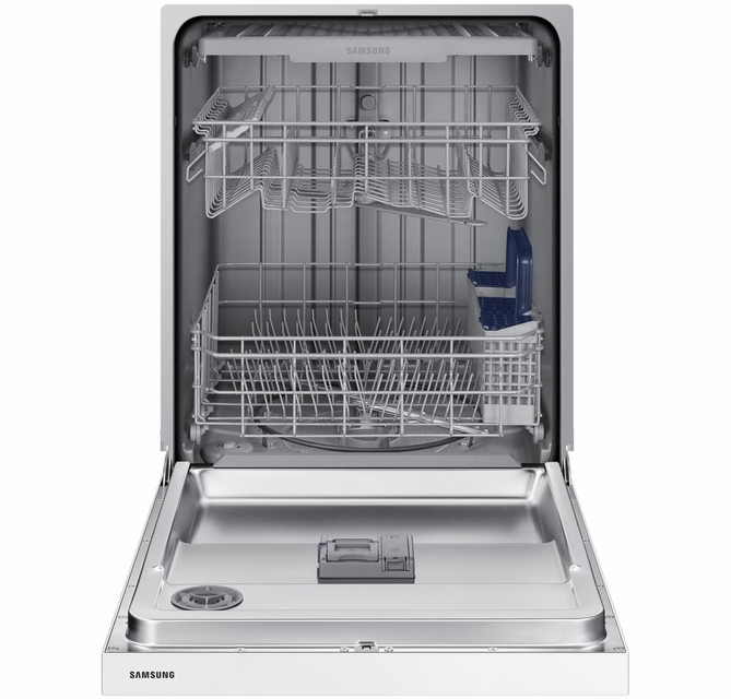 Dw80n3030uw Samsung 24 Front Control Dishwasher With 4 Wash Cycles And 3rd Rack White