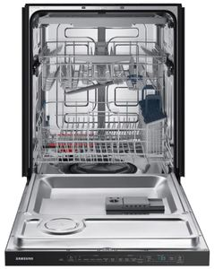"DW80R5060UG Samsung 24"" Built In Dishwasher with StormWash and AutoRelease Door - Recessed Handle - Fingerprint Resistant Black Stainless Steel"