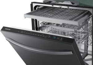"DW80R5061UG Samsung 24"" Built In Dishwasher with StormWash and AutoRelease Door - Flat Handle - Fingerprint Resistant Black Stainless Steel"