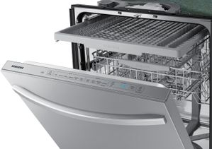 "DW80R5061US Samsung 24"" Built In Dishwasher with StormWash and AutoRelease Door - Flat Handle - Fingerprint Resistant Stainless Steel"