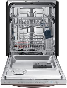 """DW80R5061UT Samsung 24"""" Built In Dishwasher Top Control with StormWash and Stormwash - Flat Handle - Fingerprint Resistant Tuscan Stainless Steel"""