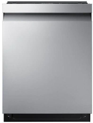 """DW80R7060US Samsung 24"""" Built In Dishwasher with StormWash and AutoRelease Door - Recessed Handle - Fingerprint Resistant Stainless Steel"""