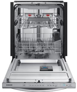 "DW80R7061US Samsung 24"" Built In Dishwasher with StormWash and AutoRelease Door - Fingerprint Resistant Stainless Steel"