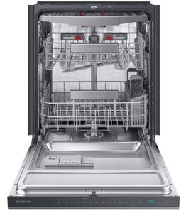 "DW80R9950UG Samsung 24"" Built In Dishwasher with Linear Wash System and Zone Booster - Fingerprint Resistant Black Stainless Steel"