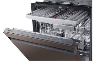 "DW80R9950UT Samsung 24"" Built In Dishwasher with Linear Wash System and Zone Booster - Fingerprint Resistant Tuscan Stainless Steel"